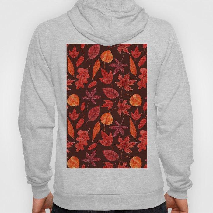 Autumn leaves watercolor Hoody