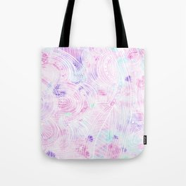 Hand painted watercolor pink teal white zentangle floral Tote Bag
