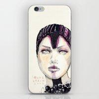 fashion illustration iPhone & iPod Skins featuring Fashion illustration  by Ioana Avram