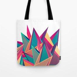 Triangles Intensive (White) Tote Bag