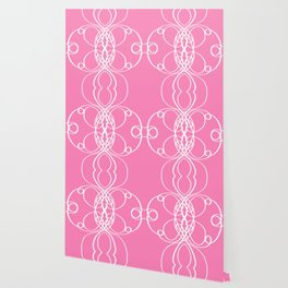 Pink White Swirl Wallpaper