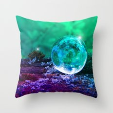 COLLECTION »CRYSTAL BALL« | Tiny Universe Throw Pillow