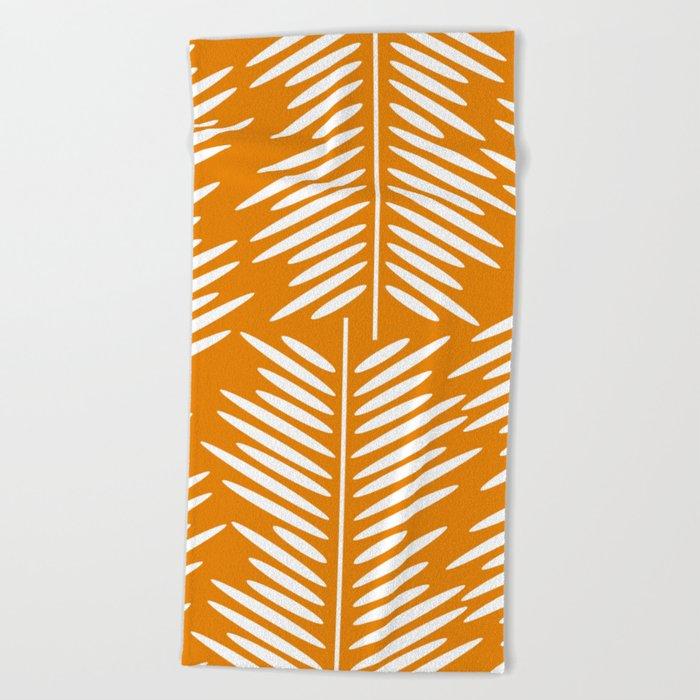 Leaves- minimal Beach Towel