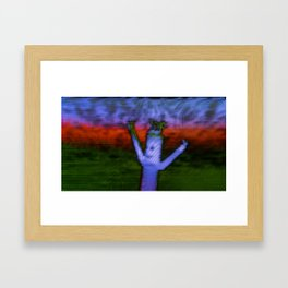 Bend - Glitch Framed Art Print