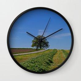 Relaxing in a field Wall Clock