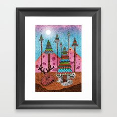 A Christmas Moment Framed Art Print