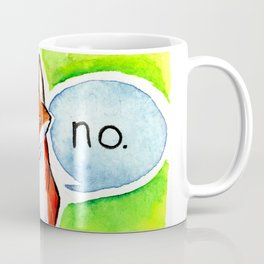 The fox says No Coffee Mug