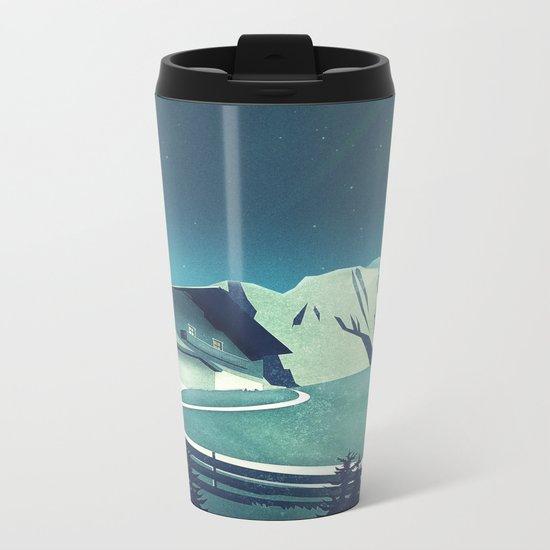 Alpine Hut Metal Travel Mug