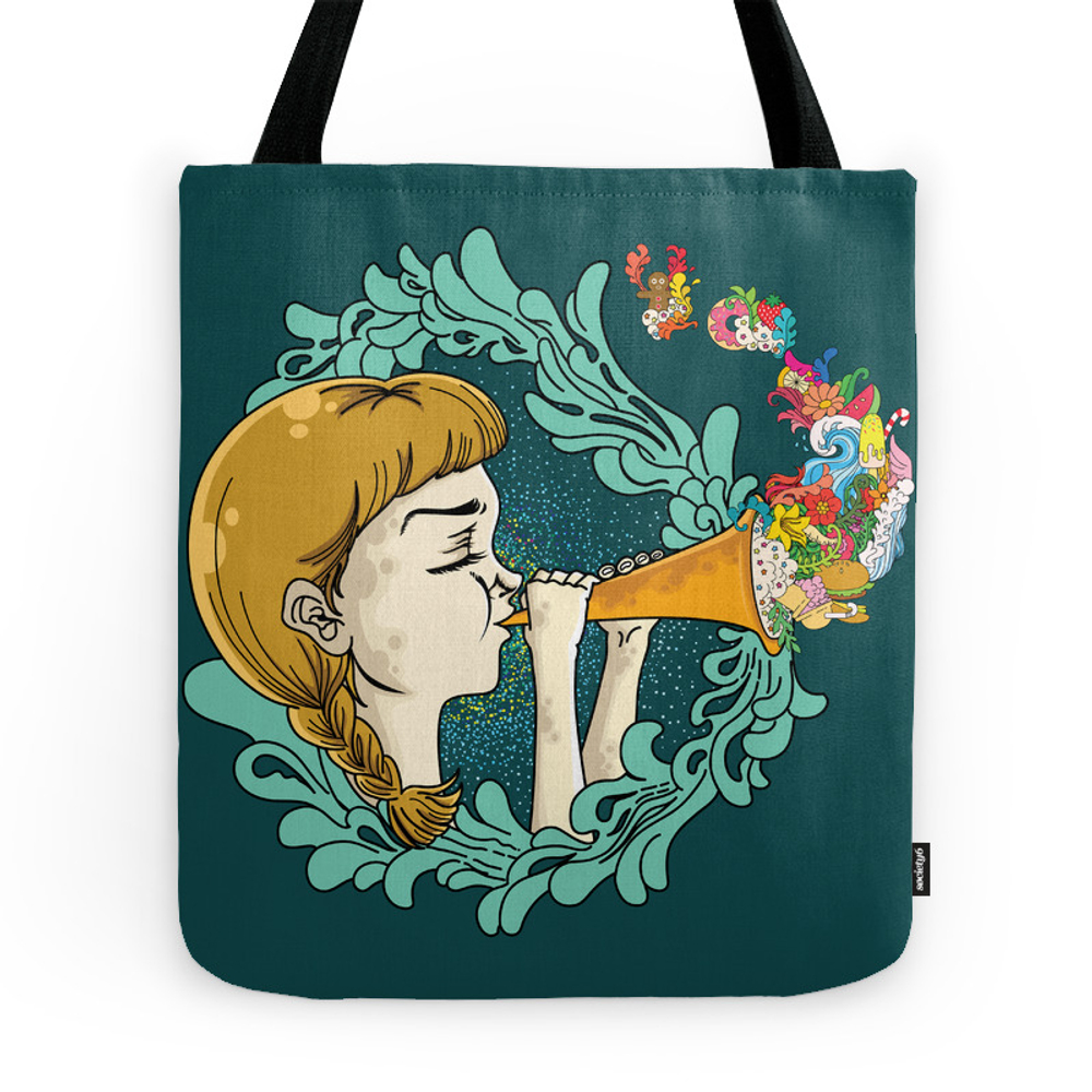 Girl With Trumpet Tote Purse by littlemonstar (TBG7706809) photo