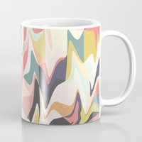 deco Mugs featuring Deco Marble by Beth Thompson