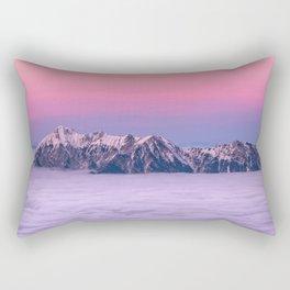Mountains over the clouds Rectangular Pillow