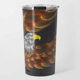 Eagle color zentangle art Travel Mug