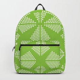 Geometric Dots Pattern - Light Green Backpack