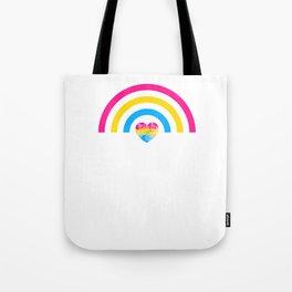 Pansexual Heart Rainbow design LGBTQ Pride Gift Idea Tote Bag