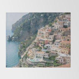 Italy. Amalfi Coastline Throw Blanket