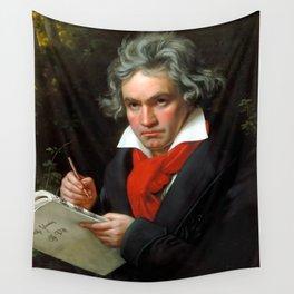 Ludwig van Beethoven (1770-1827) by Joseph Karl Stieler, 1820 Wall Tapestry