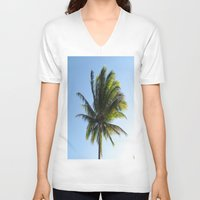 palm V-neck T-shirts featuring Palm by Percival