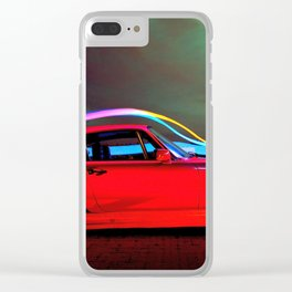 Cool Neon Sportscar Ultra HD Clear iPhone Case