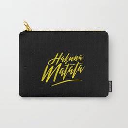 Hakuna Matata (Yellow on Black) Carry-All Pouch