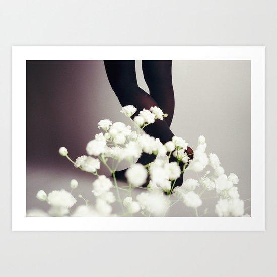 Warm Snow Art Print