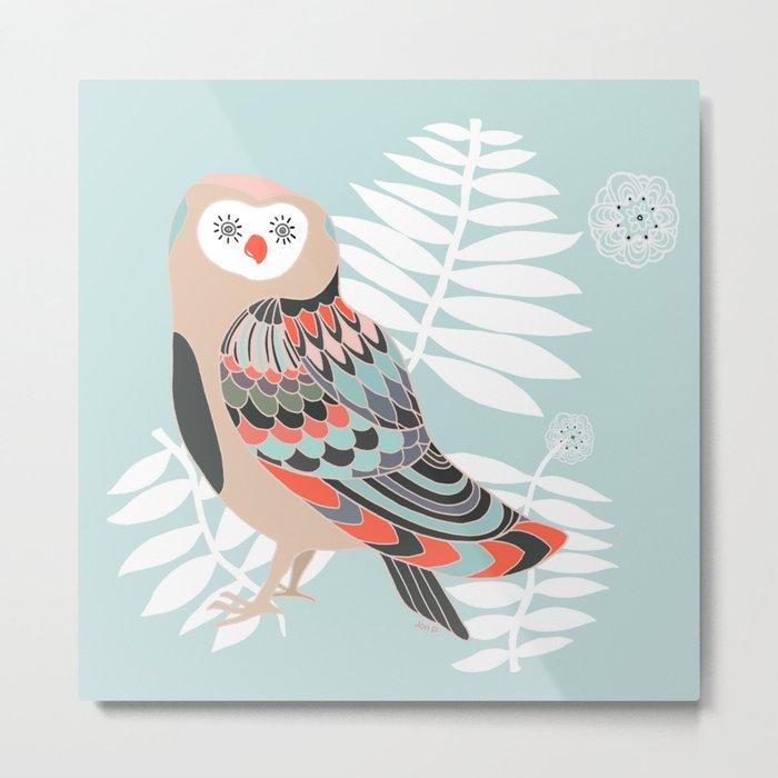 owl leaves Metal Print