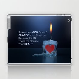 God Changes Hearts Laptop & iPad Skin