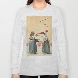 bird neighbors (collage) Long Sleeve T-shirt