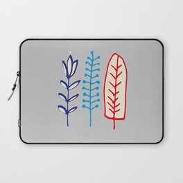 Fall and winter leaves gray Laptop Sleeve