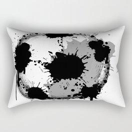 Grunge football ball Rectangular Pillow