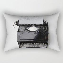 THE GIFT OF LIFE - TYPEWRITER Rectangular Pillow