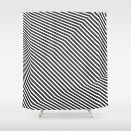 PLACE Refraction Shower Curtain