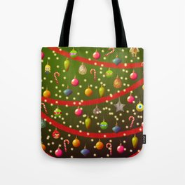 Look at these Christmas decorations! Tote Bag