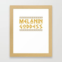 Melanin Goddess print| Black Pride product| Black Girl Power Framed Art Print