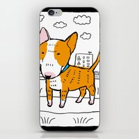 bull terrier iPhone & iPod Skins featuring bull terrier by Ellizavetta