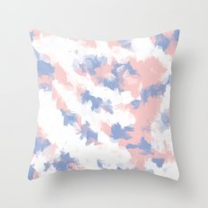 BLOSSOMS - ROSE QUARTZ / SERENITY 2 Throw Pillow