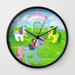 g1 my little pony stylized Fizzy, Gusty and Magic Star Wall Clock