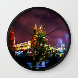Christmas Fair On Manege Square Of Moscow City Wall Clock