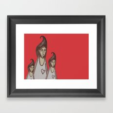 Love, Peace, YEAH! Framed Art Print