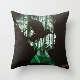 Forest Silhouette Throw Pillow