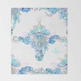 Aqua Chalcedony Throw Blanket