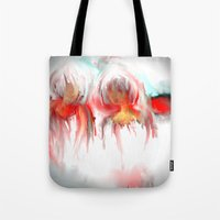 twins Tote Bags featuring Twins by Jessielee