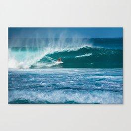 Surfing Hawaii Canvas Print