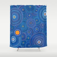 starry night Shower Curtains featuring Starry Starry Night by Elspeth McLean