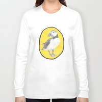 puffin Long Sleeve T-shirts featuring Puffin by CSMalcolm Illustration