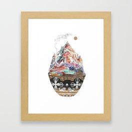 Base Camp - Himalayan Mountain Tent Village Framed Art Print