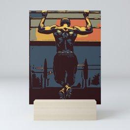 Pull ups at the gym - crossfit Mini Art Print