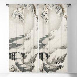 Snowscape by Kōno Bairei Blackout Curtain