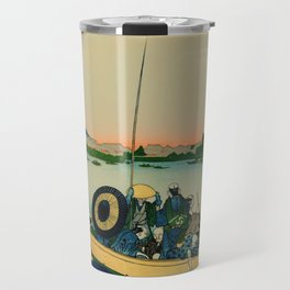 Ryogoku Bridge over the Sumida River Travel Mug