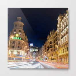 Madrid streets Metal Print