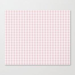Pink Gingham Canvas Print